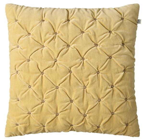Chhhatwal and Jonsson cushion Mini Dot Velvet 50x50 yellow dark oak 650sek