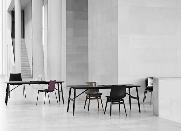 Ascalon_BA101-Preludia-Table-Oak-Black_BA002F-Preludia-4legs-Black-Frame_Fjord591_BA001S-Wood-Walnut_Thor301-2