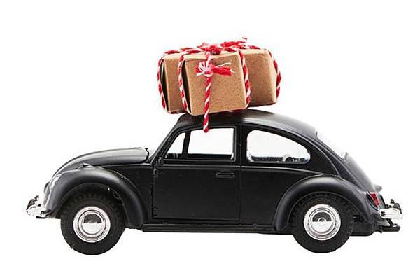 svart bil bubbla trendsisters jul